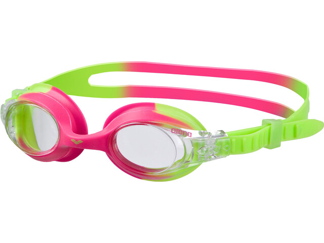 arena X-Lite Goggles Kinder green pink-clear